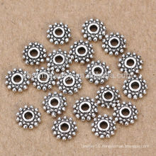 sef097 Fashion 5mm 925 Sterling silver spacer beads Jewelry Findings for Elegant DIY Goods Free Shipping