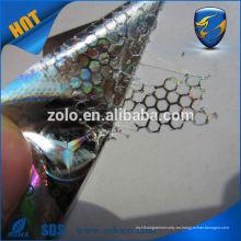Etiquetas engomadas del holograma del precio barato de la promoción directa de la fábrica / etiquetas engomadas holográficas del vinilo