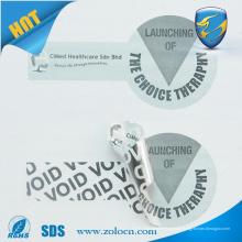 Digitales Etikett, VOID Sicherheitsetikett, Etikett gegen Fälschungen