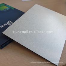 Hochwertige, gebürstete Aluminium-Verbundplatte für Wandverkleidungen