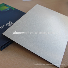 High quality wonderful brushed finish aluminium composite panel for wall cladding