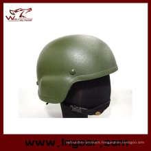 Mich 2000 Glass Fiber Leather Bicycle Helmet Cycling Helmet Bulletproof Helmet Od