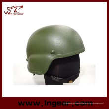 Mich 2000 vidro fibra couro capacete de bicicleta ciclismo capacete capacete à prova de balas Od