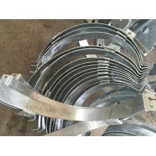 O MERGULHO quente galvanizou a fabricação de metal e as peças da soldadura para a porta de construção do elevador