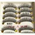Etiqueta privada gran stock pestañas falsas 10 pares de pestañas hechas a mano de Taiwán