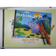 A4 Size Saddle Stitching Color Drawing Books (DR-008)