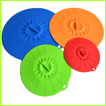 Silicone couvercle d'aspiration la valeur Flexible bols Covers