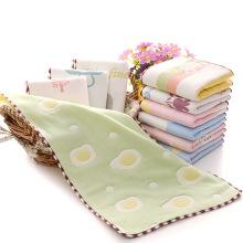 Six-layer cartoon cotton children's gauze kindergarten towel