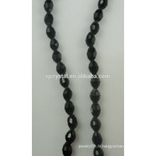 Perles de cristal Perles de verre noir