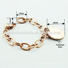 2015 European style new arrival stainless steel IP rose gold bracelet for women