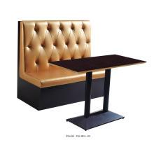 Meubles simples de dos de cabines de restaurant de taille moyenne de café de dos de Brown