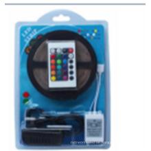 LED-Streifen-Lichter SMD2835 Wasserdichtes 5M 60leds / Meter RGB-Farbe Flexible LED-Seil-Lichter with12V 2A Stromversorgung + 24 Schlüssel IF-Direktübertragung