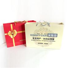 Papel de bolsa de regalo duradero reciclado ecológico con asa