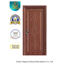 Vereinfachte chinesische Art MDF-Tür für Innenraum mit festem Holz (xcl-002)