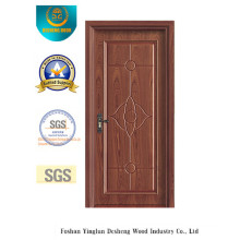 Simplified Chinese Style MDF Door for Interior with Solid Wood (xcl-002)
