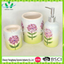 Новый дизайн тиснением цветочной бомбы керамической ванной набор