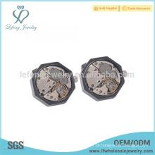 Alta qualidade mens mensageiro abotoaduras, relógio vintage cufflinks
