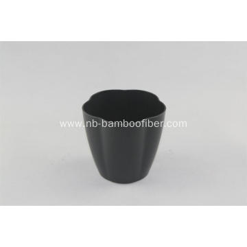 Bamboo fiber big flower shape plants pot