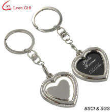 Custom Photo Frame Heart Keychain for Wedding Gift (LM1760)