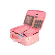 Hot Selling Cosmetic Storage BagTravel Makeup Brush Organizer Custom Logo Pink Makeup Cosmetic Bags