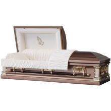 Brume d'automne avec Pray main panneau métallique cercueil