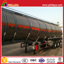Réservoir de semi-remorque d'acier inoxydable de camion-citerne de carburant