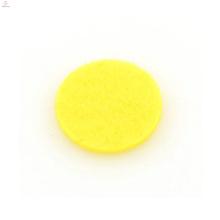 Almofada do difusor dos medalhões do óleo amarelo, almofada dos óleos do difusor da aromaterapia