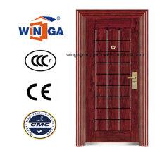 Irán color de seguridad de metal exterior puerta de hierro de acero (WS-119)