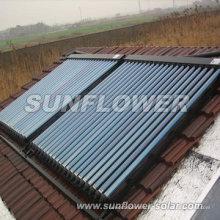 Split tubo de calor de cobre colector solar con SOLAR KEYMARK & SRCC