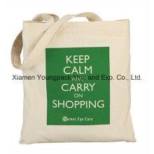 Promocionais Personalizado Reutilizável 100% Natural Cotton Canvas Shopper Bag