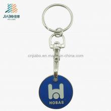 Approvisionnement Personnalisé émail promotionnel Euro Trolley Token Coin Keychain