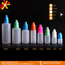 translucent color pe dropper bottle