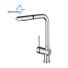 Aquacubic Hot selling High Arc Lead free Brass Pull Out cupc Kitchen Faucet tap with pull down sprayer
