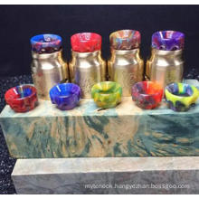 Colorful Wholesales Price AV Resin Drip Tip Can OEM Logo