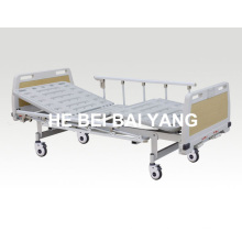 (A-71) --Movable Double-Function Manual Hospital Bed with ABS Bed Head