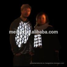 Logotipo de camiseta con vinilo reflectante de transferencia de calor PU