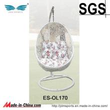 Im Freien preiswerter Ei-geformter hängender Stuhl mit Stand (ES-OL170)