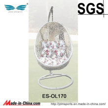 Outdoor Cheap Egg Shaped Hanging Chair with Stand (ES-OL170)
