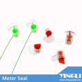 Selo anti-reverso do medidor de segurança transparente com impressão a laser