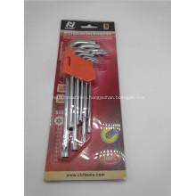 9-Piece Star Key Set Hex Key L Wrench