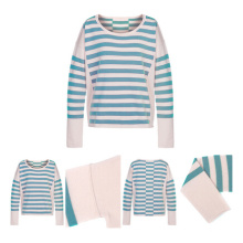 Striped Women Knitted Cashmere Sweater