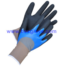 Double Coated Handschuh, Nitril Arbeitshandschuh