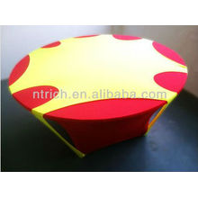 2013 New style spandex table cloth, top covr with hole