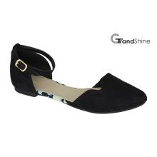 Frauen Microfiber Spitz Zehe flache Ballett Schuhe