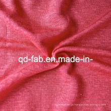 T-shirt de confecção de malhas de linho (QF13-0275)