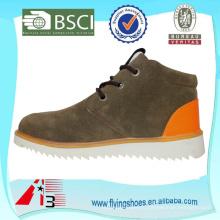 Мужская обувь из замши с кожаными кроссовками