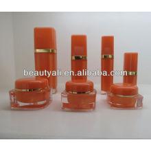 Quadratisches Kosmetik-Acryl-Creme-Glas