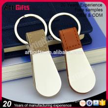 Classique porte-clés en cuir valet de marque pour les hommes