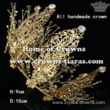 All Handmade Full Round Pageant Bridal Queen Crowns