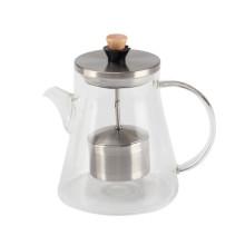 Hitzebeständige Glas-Teekanne für losen Tee
